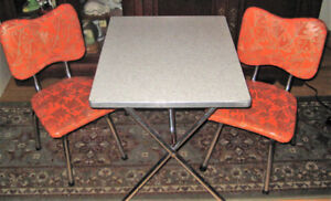 Vintage Child's Chrome Table and Chairs set 1950's