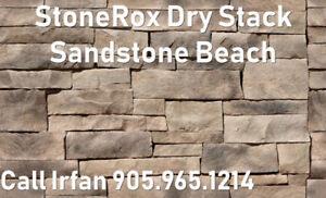 Fireplace StoneRox Dry Stack Veneer Stones Sandstone Beach