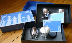 Set of Wedgewood Egg Cups Silver Plated
