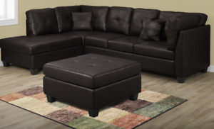 ELEGANT SECTIONAL WITH OTTOMAN ONLY $699 AVAILABLE IN 2 COLORS