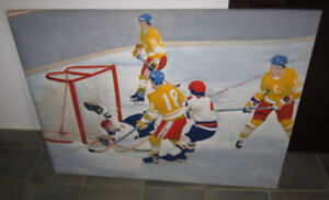 Quilted hockey picture