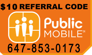 $10 off - public mobile referral code - LIMITED