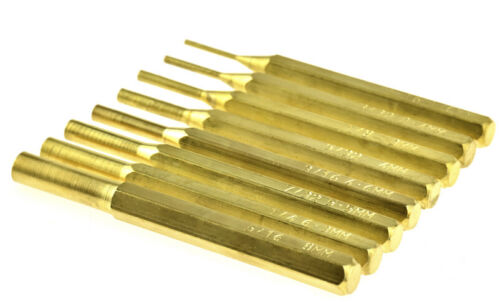 8pc Brass Pin Punch Set In A Reusable Pouch,