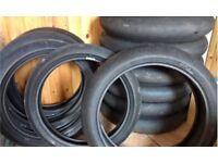 Motorcycle Race Tyres Moto 3 scrubs / £50 Per Set Free P&P