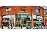 WARR'S HARLEY DAVIDSON SALES ASSISTANT FULL TIME CLOTHING