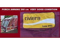 Caravan Awning Porch Awning Riviera Lux 260