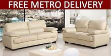 FREE DELIVERY PU Leather Sofa 3/2/1 Seater - Cream White Salisbury Brisbane South West Preview