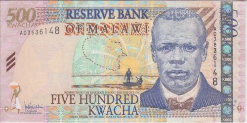 Malawi Banknote P56a-6148  500 Kwacha 2005, UNC