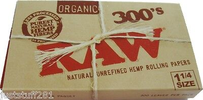Raw 300's Organic Hemp Rolling Papers 1.25