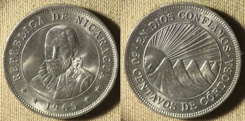 Nicaragua : 1965 50 Ct  BU  # 19.2  IR3278