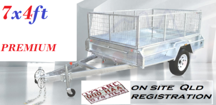 7 x 4 ft GALVANIZED PREMIUM BOX TRAILER $1,350