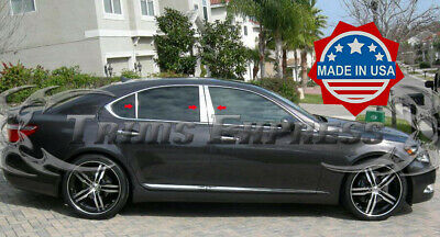 fit:2007-2017 Lexus LS460/LS600h 6Pc Chrome Pillar Post Stainless Steel Trim