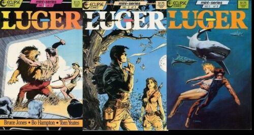 Luger Complete Mini-Seires Set Bruce Jones Bo Hampton Tom Yeates Eclipse 1-3 VF
