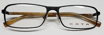 KATA TITANIUM Men's OPTICAL EYEGLASSES K 5 NOIR REVERSE Eyewear FRAMES 55 16 (Men's Optical Frames)