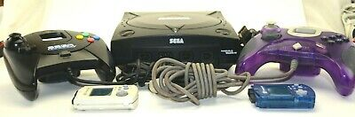 Sega Dreamcast Sports Edition Blk Console 2 Controller Pads game power/av cords
