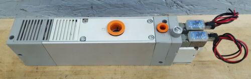 SMC Multistage Vacuum Ejector NZL112-K15MZ Supply 21-100PSI Vacuum 0-25in-Hg