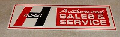 """VINTAGE HURST SALES & SERVICE 4 5 SPEED SHIFTER 15"""" METAL CAR GASOLINE OIL SIGN!"""