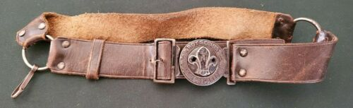 Vintage Boy Scouts Leather Belt and Buckle