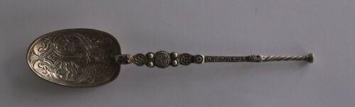 Cornelius Saunders  James Hollings Shepherd Sterling Silver Anointing Spoon 1906