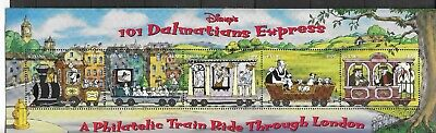 HICK GIRL- MINT GUYANA STAMPS   DISNEY  101 DALMATIONS   STRIP OF 5      A1