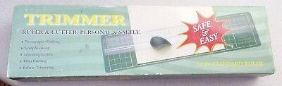 14 Precision Scrapbookphoto Trimmer Ruler And Cutter W 4 Cutting Heads