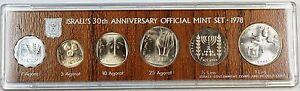 1978 Israel 30th Anniversary 6 Coin Official Mint Set with Box and COA