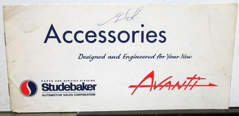 1964 Studebaker Avanti Accessories Original Sales Brochure