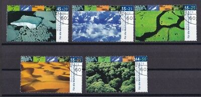 BRD 2004  gestempelt MiNr. 2423-2427  Wunderbare Welt-Klimazonen