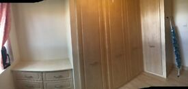 Lovely high quality fitted Wardrobes and chest of drawers £200 ONO