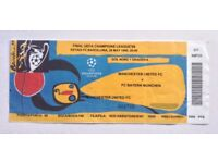 1999 Champions League Final Ticket Man Utd v Bayern Munich