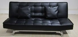Black or Brown Sofabed Faux Leather Brand New Boxed Free Delivery Zone 1 and Free Home Assembly
