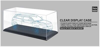 1:18 SCALE CLEAR PLASTIC DISPLAY COVER CASE WITH BLACK BASE FOR MODEL CARS