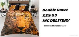 BNIB Double Leopard Duvet Set Delivered