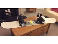 Rome SDS Garage Rocker Snow Board & Bindings with Carry Bag 156cms