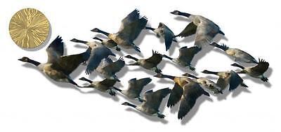 Geese Birds Metal Wall Art Home Decor Wall Sculpture