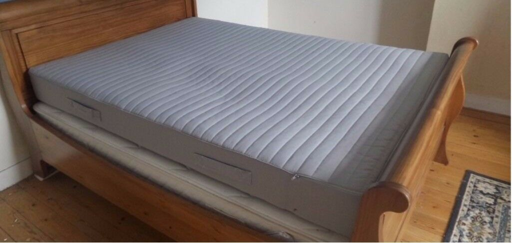 Ikea Sultan Huglo Double Mattress Amp Divan Bed Base In