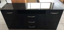 NEW. High Sheen Large Sideboard in Black Gloss