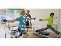 Pilates class Reformer and mat beginners to advanced