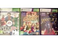 XBOX 360 Kinect GAMES £5 Each or £10 For All 3 GAMES (Boxed)
