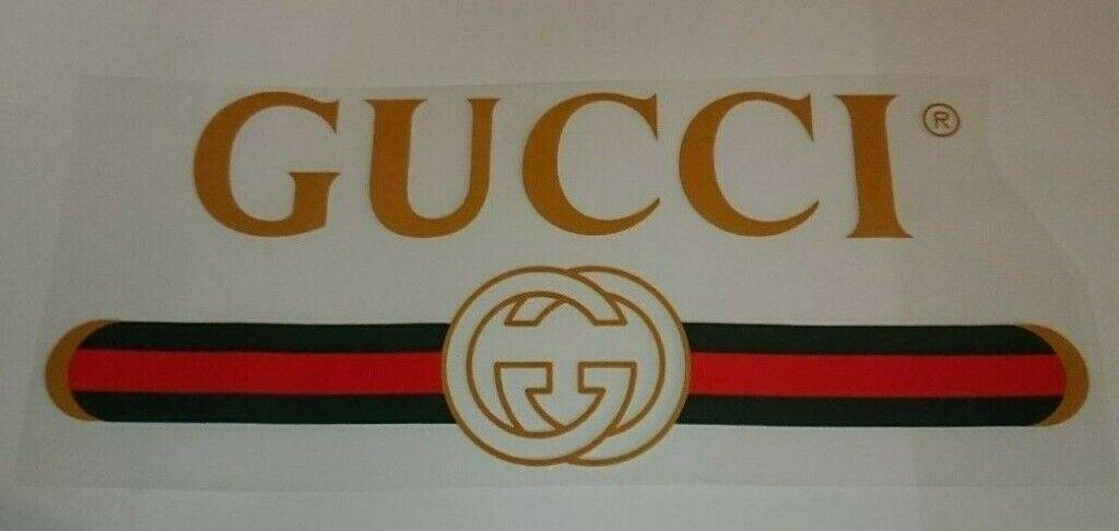 Gucci Gg Iron On Heat Transfer Logo High Quality Patch
