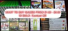 WTB Want Buy Xbox / Wii / Playstation . Games in bulk,, Dapto Wollongong Area Preview