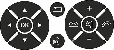 (Set of stickers to repair the buttons on steering wheel for Mercedes C Class)