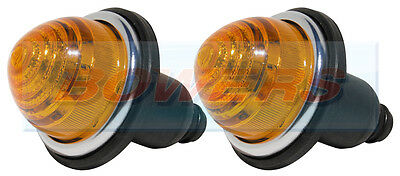2x LANDS CLIGNIC CLASSIC MINI FRONTREAR AMBER LAMPES S'ALLUMENT COMME LUCAS L594