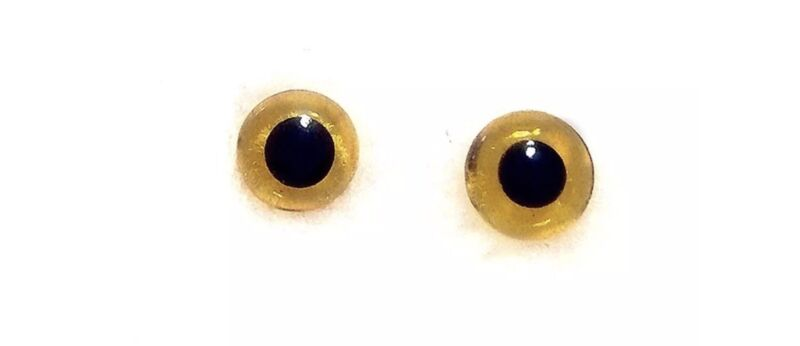 10 Pairs of Amber Brown glass eyes Needle Felting 5mm Dogs Cats Taxidermy Bears