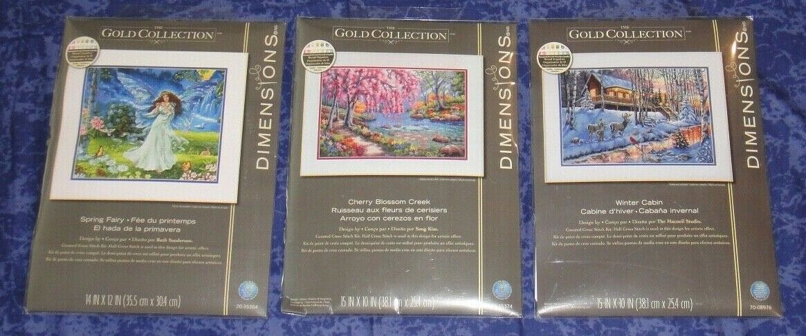 Dimensions The Gold Collection Cross Stitch Cherry Spring Fa