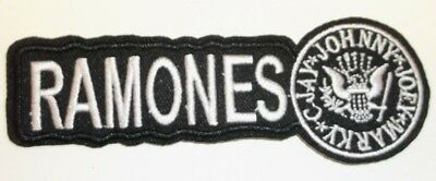 """Ramones Embroidered Applique Patch~4 1/2"""" x 1 9/16""""~Iron or Sew On~Ships FREE"""