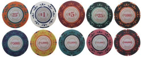 500 CASINO ROYALE JAMES BOND POKER CHIPS SET