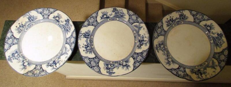 """3 Booths MING Dinner Plates 10 1/8"""""""