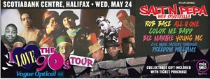 2 tickets to the I love the 90s tour