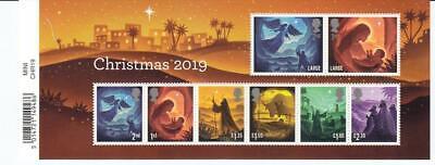 GB 2019 CHRISTMAS REFLECTIONS MINIATURE SHEET MINT STAMP SHEET 8 VALUES BAR CODE ()